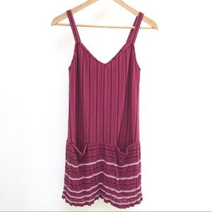 Theory beaded mini berry pink dress